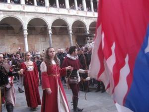 Costumed Parade in Cremona reenacting the ancient Visconti Sforza Wedding