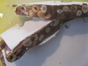 Home Made Chocolate Flavored Torrone