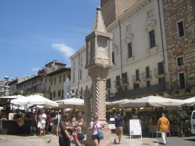 Today's Verona's Piazza Erbe -