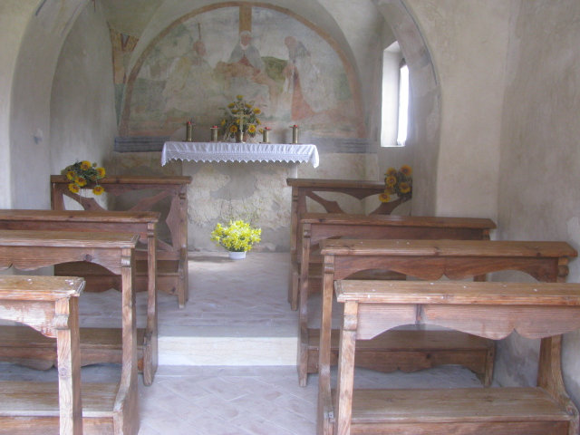 Chapel dedicated to Saint Rocco where salt blessings for the animals were celebrated