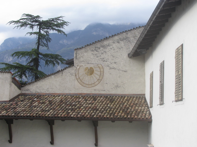 As time passes on ancient walls of the Augustinian monastery -S. Michele All'Adige, Trentino