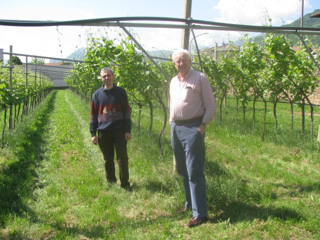 Conte Gian Paolo Bossi Fedrigotti (right) and Enologist Dante Cavazzani (left)