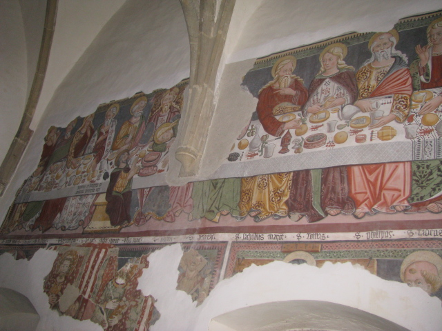 Last Supper Fresco, Saint Udalrico Church (1421), Corte Superiore, Val di Non