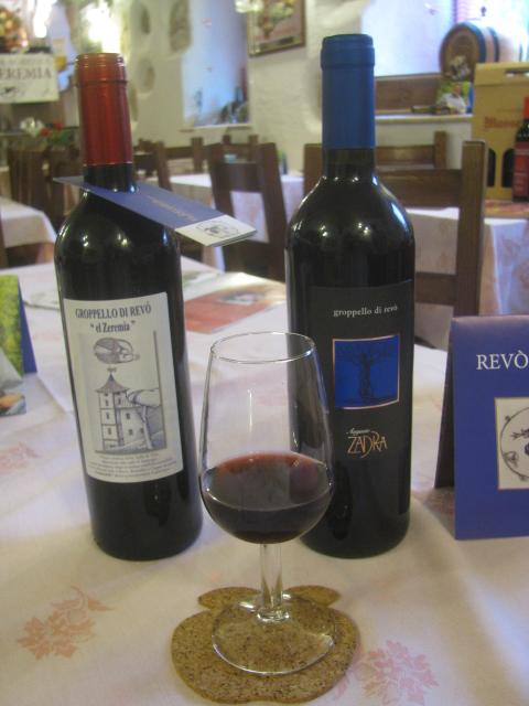Red Groppello and White Aromera, Azienda Agricola EL ZEREMIA, Revo,' Val di Non