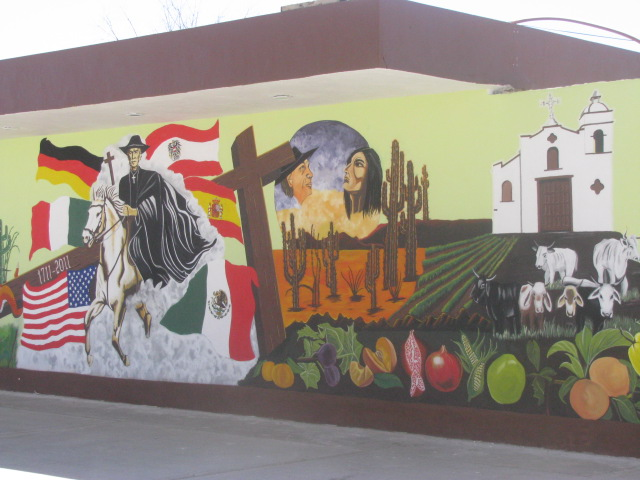 Fresco depicting Padre Kino south of Tucson, Arizona