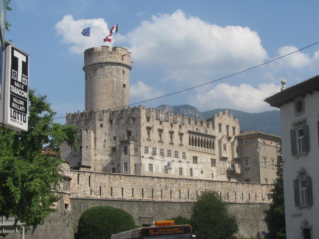 Still standing today Trento's Prince Bishops' Castle
