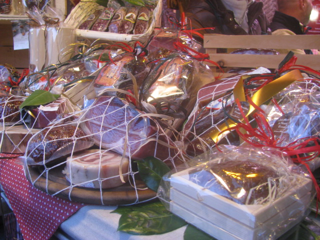 Speck, mortandela and other cold cuts gift wrapped - All rights incl. electr. Culinary Roots and Recipes 2016