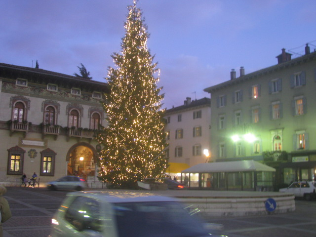 Christmas tree in Rovereto - All rights incl. electr. Culinary Roots and Recipes 2016