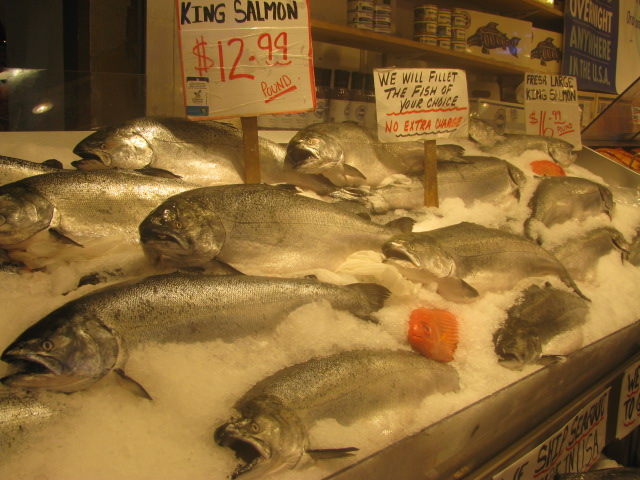 Northwestern salmon - Pike Place Market - All rights incl. electr. by Culinary Roots and Recipes 2017