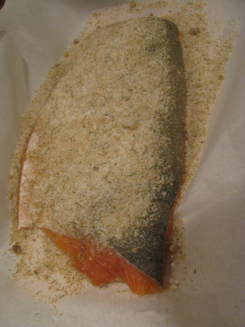 Salt sugar herbed salmon ready for gravlax - All rights reserved incl. electr. by Culinary Roots and Recipes 2017